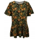 Wild Flowers Ruffle Sleeve Tunic Top, Printed, by A Walk In The Park®