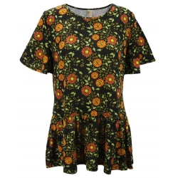 Women's 'Wild Flowers' Ruffle Sleeve Tunic, Printed, by A Walk In The Park®
