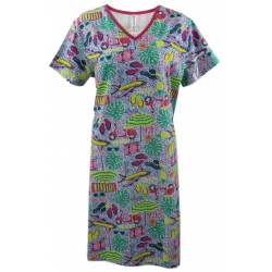 Women's 'Travel' V-Neck Sleep Shirt Nightgown, by Needy Me Sleepwear®