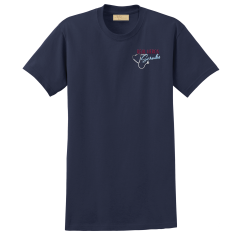 """Real Heros Wear Scrubs"" Navy Tee"
