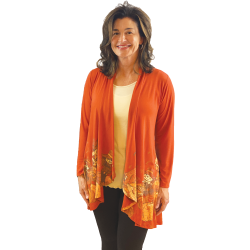 """Patchwork Scarecrow"" Long Sleeve Kimono, by A Walk In the Park®"