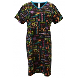 Women's 'Journey' V-Neck Sleep Shirt Nightgown, by Needy Me Sleepwear®