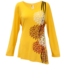Mums the Word - Golden Apricot Asymmetrical Tunic, by A Walk In the Park®
