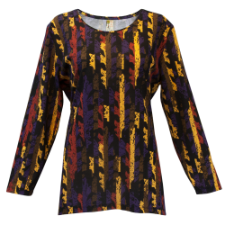 """Leaf Divide"" Printed Asymmetrical Tunic, by A Walk In the Park®"