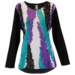 """Abstract Colors"" Printed Long Sleeve Swing Top, by A Walk In the Park®"