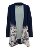 Winter Roads - Midnight Long Sleeve Kimono, by A Walk In The Park®